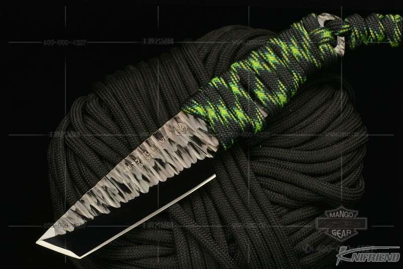 Messori Knife 意大利兰博基尼设计师 迈索瑞 #12号 一体式龙骨 迷彩伞绳缠绕柄 小直 (1).jpg