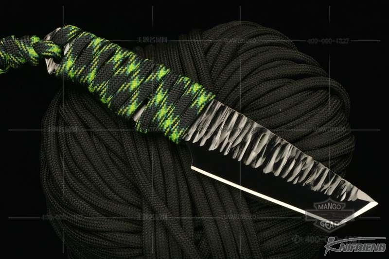 Messori Knife 意大利兰博基尼设计师 迈索瑞 #12号 一体式龙骨 迷彩伞绳缠绕柄 小直 (4).jpg
