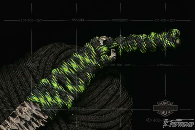 Messori Knife 意大利兰博基尼设计师 迈索瑞 #12号 一体式龙骨 迷彩伞绳缠绕柄 小直 (3).jpg